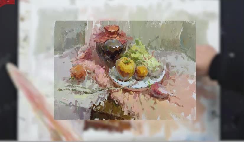色彩-陶罐与水果